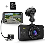 Trochilus Dual Dash Cam 4″ 1080P Front and Rear Dash Cams, 170 Degree Wide Angle Car Camera with G-Sensor, WDR, Loop Recording, Parking Monitor, Motion Detection, 32GB SD Card including For Sale