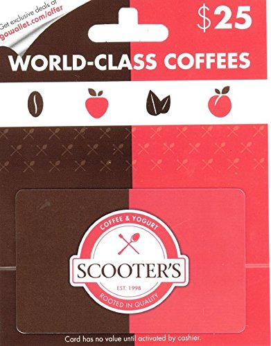 Scooter's Coffee and Yogurt $25 Gift Card