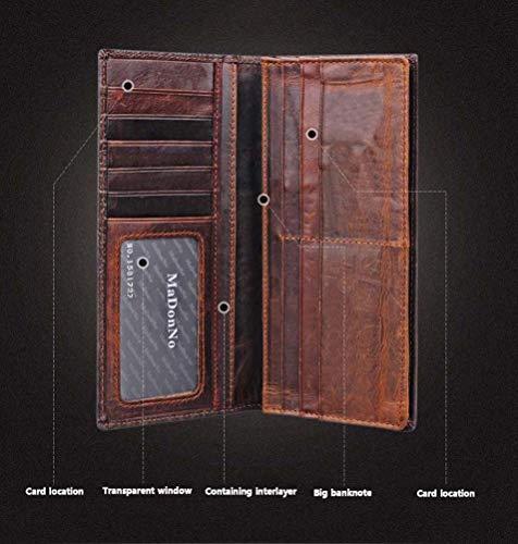 furto In 8 Biglietti Anti Anti Galon Wallet 4 rfid Zipper Da Bank Visita Credito Uomo magnetico Anti Card Donna Di Package Porta E Carta Holder Pelle 0wzqF