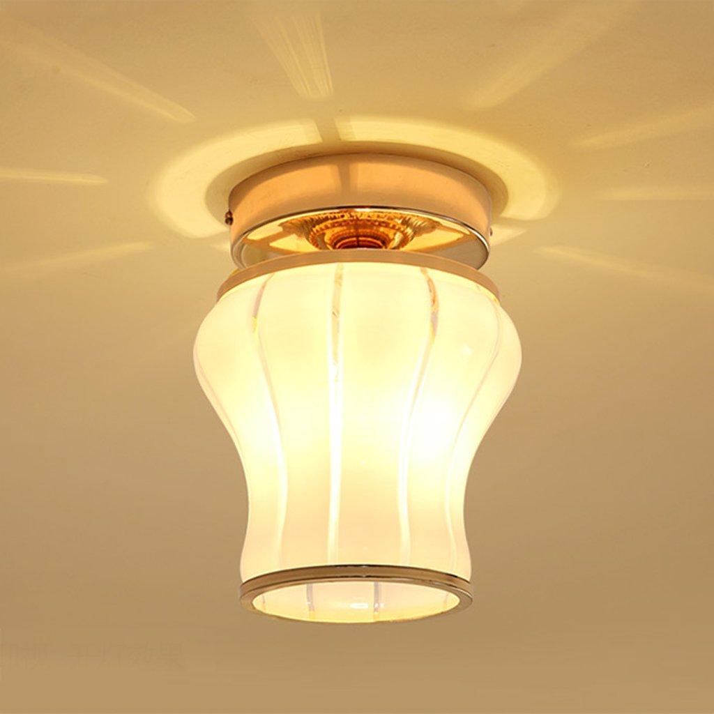 Lámpara de techo GAOLILI Led balcón Luces de Pasillo Luces de Corredor Luces de balcón Led Luces de Techo de Luz de Techo de Vidrio Luces E14 1ebc5a