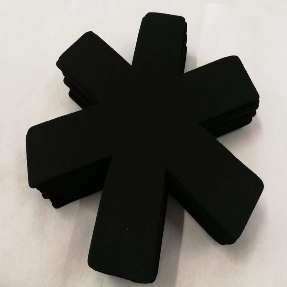 Noir UPKOCH 3pcs Protecteurs de casseroles et de casseroles Protecteurs de casseroles et diviseurs de s/éparateur S/éparateur Accessoires de Batterie de Cuisine antid/érapants
