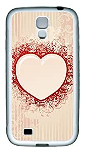 Samsung Galaxy S4 Case TPU Customized Unique Print Design Heart Shaped Love Case Cover For Samsung Galaxy S4 by supermalls