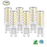 G9 3W LED Light Bulbs, HANCLLED G9 LED Bulb Warm White 4014 SMD 54LEDS AC 100-240V No Flicker Non Dimmable LED Lamp Bulbs Energy Saving Light Bulb Replacement [6 Pack]