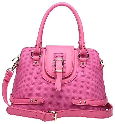 Aitbags Designer Women's Handbags PU Leather Top Handle Dome (Designer Dome)