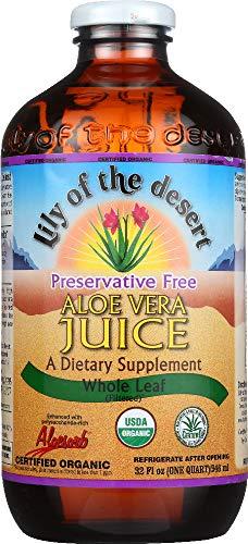 StarSun Depot Organic Aloe Vera Juice Whole Leaf, 32 oz