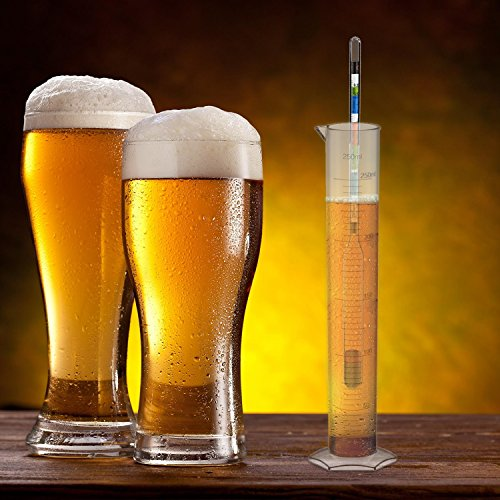 artale Triple Scale Alcohol Hydrometer Test Kit for Home Brew Beer, Wine, Mead, Cider with Specific Gravity Test Kit, 250ml Plastic Test Jar, Cleaning Brush/Cloth/Storage Bag - ABV, Brix and Gravity by artale (Image #2)