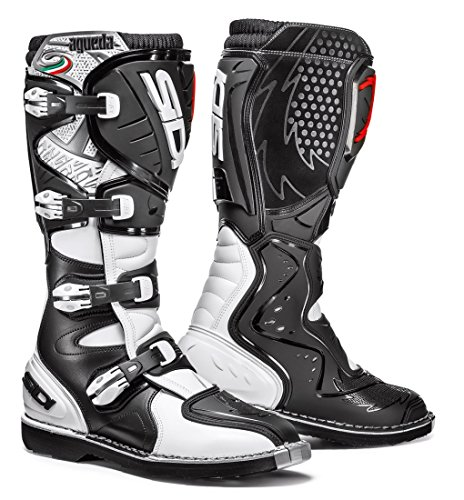 (Sidi Agueda Off Road Motorcycle Boots Black/White US11.5/EU46 (More Size Options))