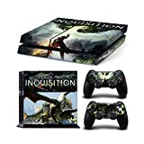 Sony PlayStation 4 Skin Decal Sticker Set - Dragon Age: Inquisition Dragon (1 Console Sticker + 2 Controller Stickers)