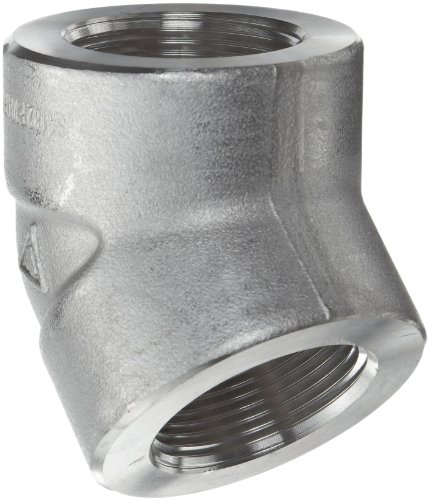 304/304L Forged Stainless Steel Pipe Fitting, 45 Degree Elbow, Class 3000, 1/8