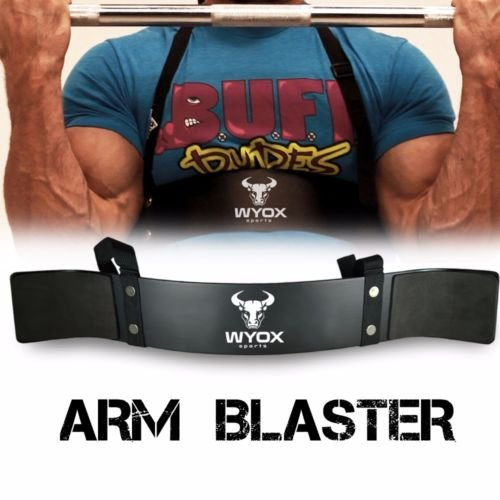 Wyox Heavy Duty Arm Blaster Isolator Body Building Bomber Bicep Curl Triceps (Black) For Sale