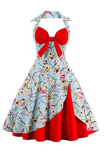 Mujeres Summer Halter Vestido De Coctel Gala Balon Vestido Vintage 9