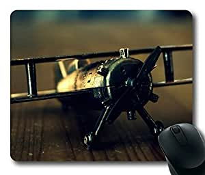 Old Airplane Toy Masterpiece Limited Design Oblong Mouse Pad by Cases & Mousepads