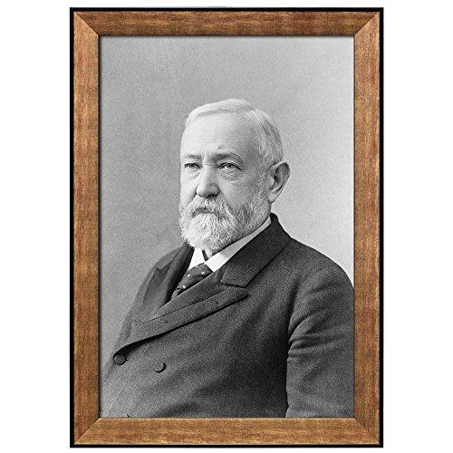 Portrait of Benjamin Harrison (23th President of the United States) American Presidents Series Framed Art Print
