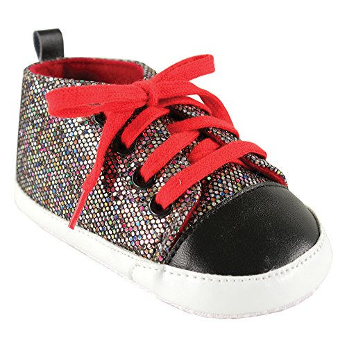 Luvable Friends Sparkly Sneaker (Infant) Multi Colored With Red Laces