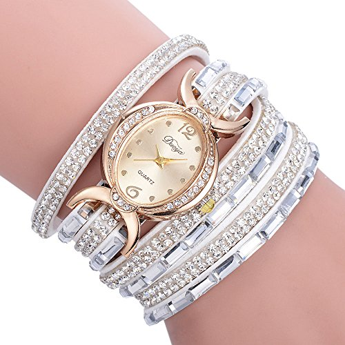 (Frunalte watch, Women Luxury Ladies Bracelet Diamond Circle Watch Student Fashion Table Clearance on Sale)