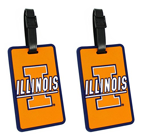 Illinois Fighting Illini - NCAA Soft Luggage Bag Tag - Set of 2 by NCAA