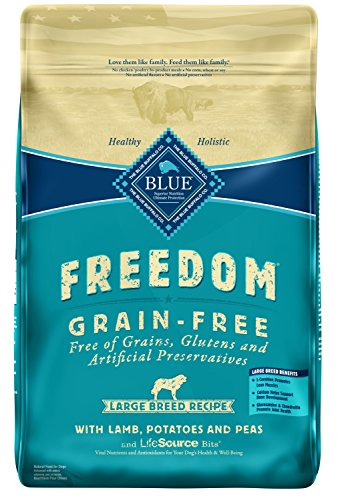 Blue Buffalo Freedom Grain Free Recipe for Dog, Large Breed Lamb Recipe, 24 lb