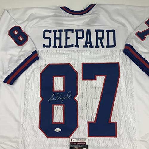 Autographed/Signed Sterling Shepard New York Color Rush Football Jersey JSA COA
