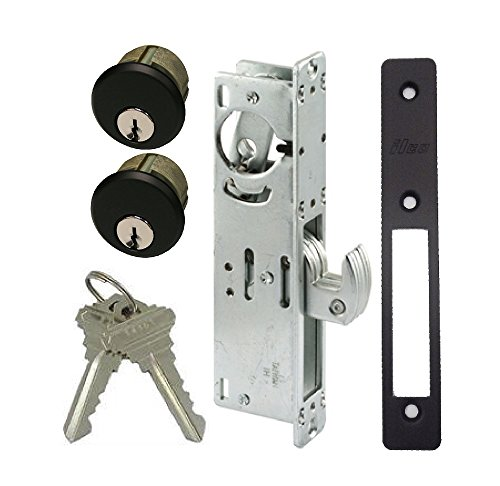 - Storefront Door Mortise Lock Hook Deadbolt & Double Keyed Cylinder Combo, Adams Rite Cam, in Duronotic (1-1/8