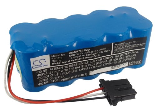 Cameron Sino 2800 mAh 33.60wh Battery COMPATIBLE WITH Nihon kohden Tec 5500, Tec 5521, Tec 5531, Tec 7621, Tec 7631, Tec 7721, Tec 7731 and others