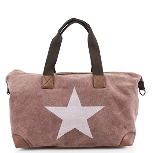 with Bag Strap Coffee Canvas Star amp; New Handle Print Cross Grab Twin Body wqZIxTS4