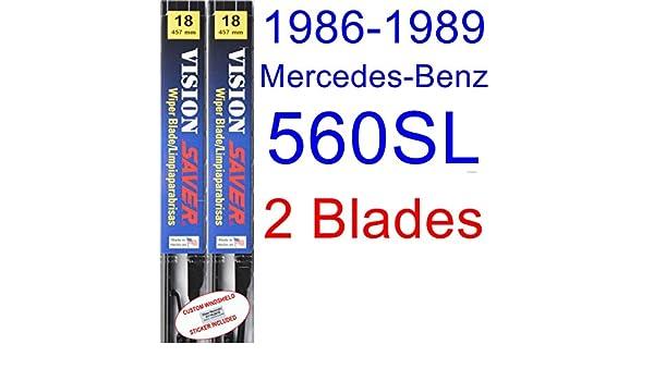 Amazon.com: 1986-1989 Mercedes-Benz 560SL Replacement Wiper Blade Set/Kit (Set of 2 Blades) (Saver Automotive Products-Vision Saver) (1987,1988): Automotive
