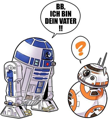 M/ädchen - R2-D2 und BB-8 Star Wars Parodie Ref:863 Star Wars Lustiges Pink Baby Strampler