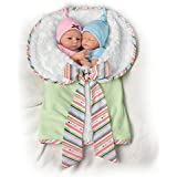 Madison And Mason Twins in Custom Bunting So Truly Real® Lifelike & Realistic Newborn Baby Dolls 13-inches by The Ashton-Drake Galleries