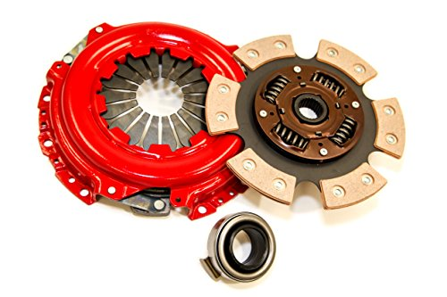 Yonaka Honda/Acura B-Series 6 Puck Stage 3 Performance Heavy Duty Clutch Kit Set Ceramic Disc B16 B18 B20