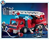 Playmobil Fireman Ladder Fire Engine Truck