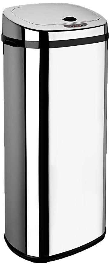 Dihl - Papelera con sensor (50 L, forma rectangular), color cromado