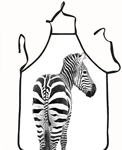 chanrancase tailored apron zebra looking back shoot from behind its butt Children, unisex kitchen apron, adjustable neck for barbecue 26.6x27.6+10.2(neck) - Manila Looking Women For Men