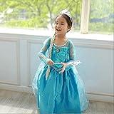 FE3 Frozen Inspired Elsa Sequins Girl Dress Halloween Costume 3T-12