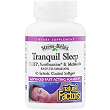 Natural Factors Stress-Relax Tranquil Sleep Softgels, 45 Count