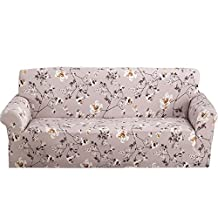 Whitelotous Printed Stretch Sofa Protector Slipcover,Furniture Shield Protector Anti-wrinkle Slipcovers For Chair Sofa (Style A 3 Seats)