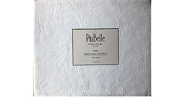 PiuBelle Colcha de algodón con diseño Floral de Estilo