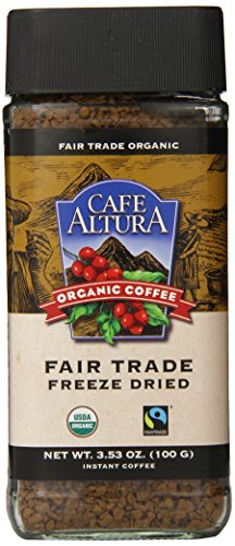 Cafe Altura Freeze Dried Instant Organic Coffee, 3.53 Ounce (Pack of 2) by Cafe Altura