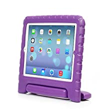 iPad 2/3/4 Case – Travellor® Kids Light Weight Kido Series Convertible Handle Kickstand Kids Friendly Protective Shockproof Cover with Stand & Handle for Apple iPad 2/3/4 (Purple, iPad 2/3/4)