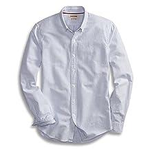 Goodthreads Men's Slim-Fit Long-Sleeve Striped Oxford Shirt