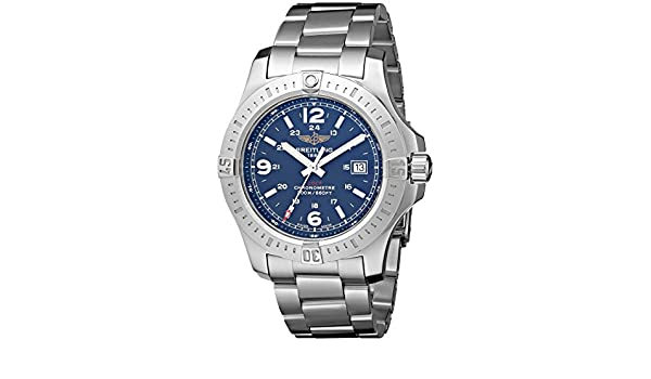 Amazon.com: Breitling Mens BTA7438811-C907SS Colt Quartz Analog Display Quartz Silver Watch: Breitling: Watches