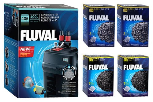 Fluval 406 A217 Filter w/ Zeo-Carb & Carbon 6mo by Fluval