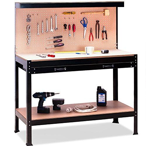Werkbank 140 x 116 x 56 cm - Werkstatttisch Packtisch Lochwand universell