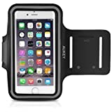 iPhone 6 / 6s Armband , AUKEY Running Sport Sweatproof Armband with Headphone and Key Slots for iPhone 6 / 6s ( 4.7 inch ) and Similar Sized Smartphones ( PC-T4 )