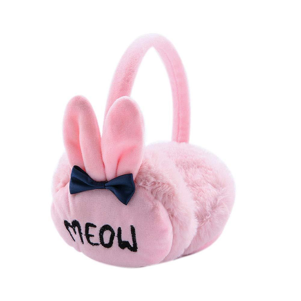 Topsair Cute Rabbit Ear Plush Retractable Winter Ear Warmer Boys Girls Earmuffs