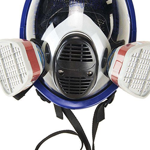 Holulo Organic Vapor Full Face Respirator With Visor Protection For Paint, chemicals, polish welding protection by Holulo (Image #4)
