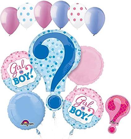 "Girl Or Boy Gender Reveal Or Baby Shower 22"" Question Mark Foil balloon Blue"