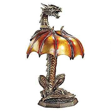 Amazon.com: Design Toscano Dragon Strike illuminated ...