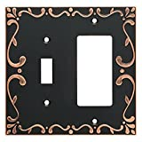 Franklin Brass W35075-VBC-C Classic Lace Switch/Decorator Wall Plate/Switch Plate/Cover with Copper Highlights, Bronze
