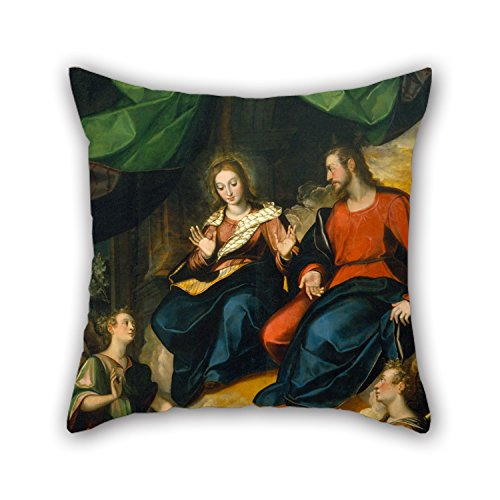 Bestseason 18 X 18 Inches / 45 By 45 Cm Oil Painting Baltasar De Echave Orio - The Porciúncula Throw Cushion Covers ,two Sides Ornament And Gift To Kids Room,car,wife,kids Room,family,dance Room