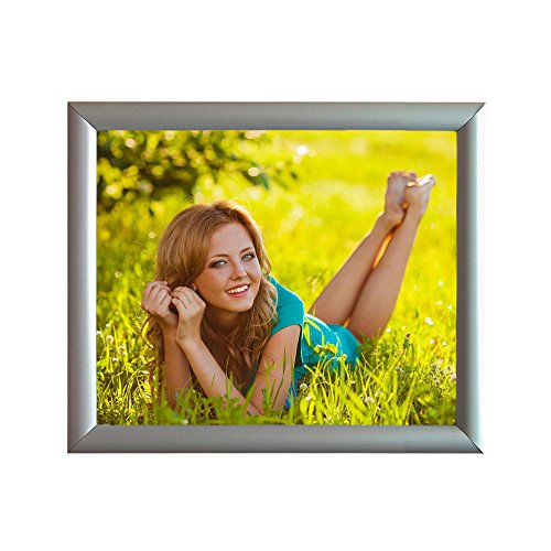 Aluminum Snap Frame for Poster 8 1/2 x 11 Inches, 25mm Profile, Color Silver Photo #9